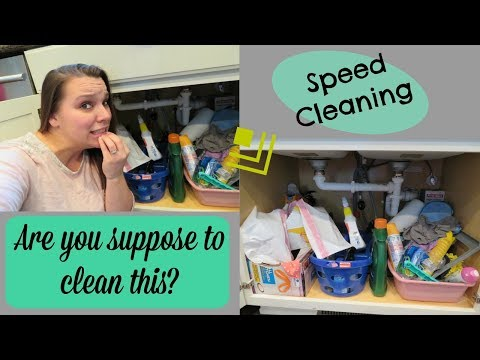 Cleaning my Cleaning Cabinet...| Speed Cleaning