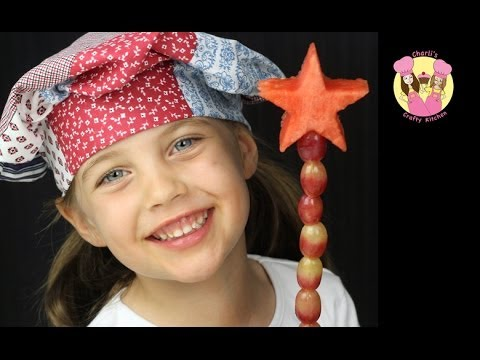 FRUITY FAIRY WAND - make a fruit wand for your fairies - healthy kids how to
