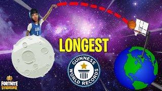 *WORLD RECORD* BASKETBALL SHOT! - Fortnite Moments #138