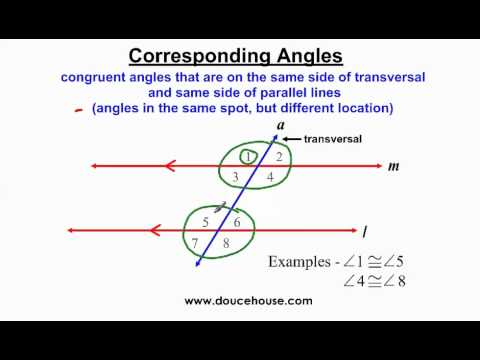 Angle Relationships with Parallel Lines - Part 1