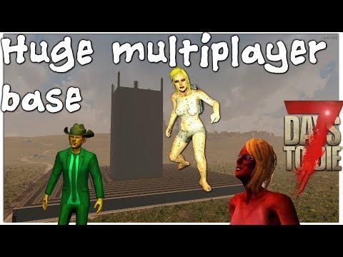 Large Multiplayer Horde Base Horde Night! |7 Days to Die | Settler's Mod
