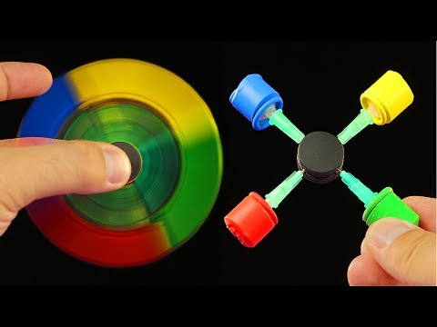 How To Make a Syringe Fidget Spinner WITHOUT BEARINGS