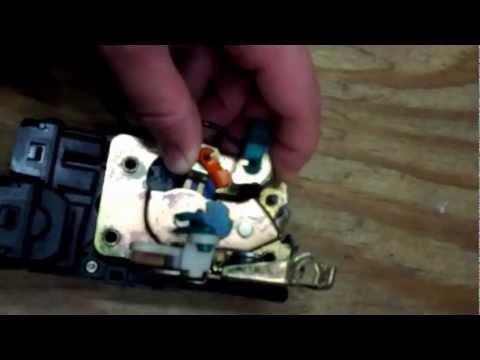 Dodge ram van electric lock door latch stuck fix
