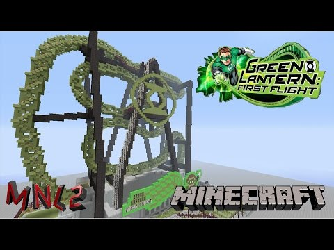 Minecraft Green Lantern: First Flight! SFMM Roller Coaster Recreation