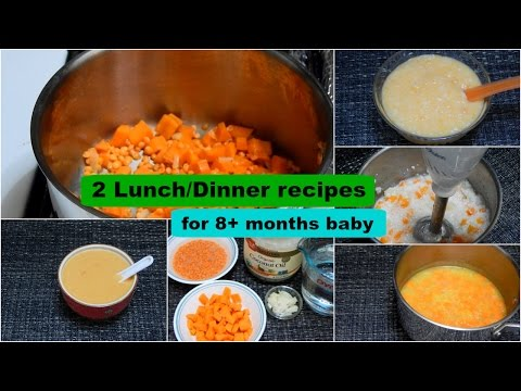 2 Lunch/Dinner Recipes for 8+ months Baby l Healthy Baby Food Recipe l Stage 2 Homemade Baby Food
