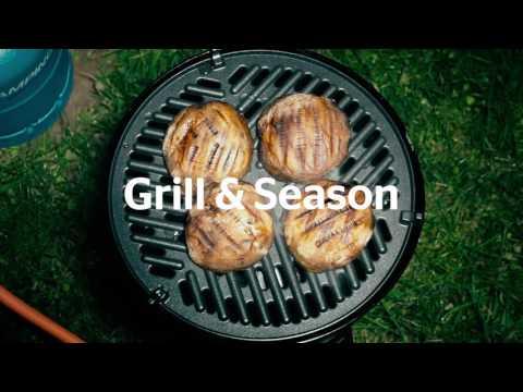Mushroom & Halloumi Burgers Campsite Recipe