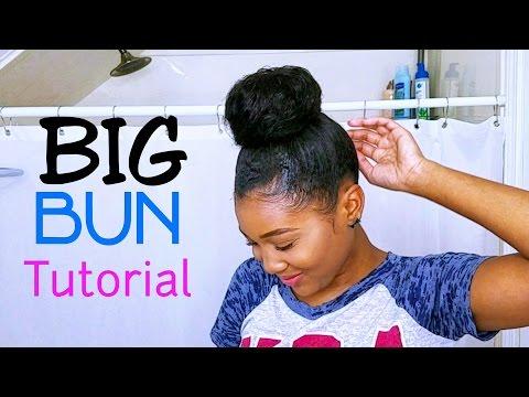 Big BUN Tutorial Using Clip Ins! (FOR SHORT HAIR)
