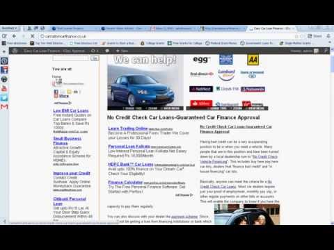 Car Dealers With No Credit Check-Car Loans For People With Bad Credit
