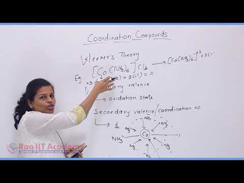 Coordination Compound Chemistry Part-1 std 12th HSC Board Video Lecture BY Rao IIT Academy