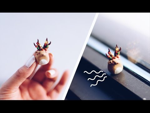 CHRISTMAS SPECIAL 2016 🎁 REINDEER WITH CHRISTMAS LIGHT ANTLERS 🎄 POLYMER CLAY CHARM TUTORIAL