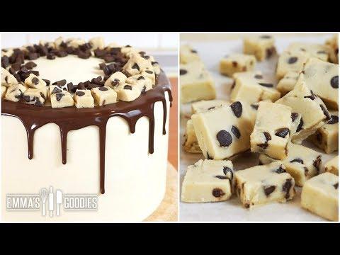 Chocolate Cookie Dough Cake Recipe + Edible Cookie Dough Recipe ( Cookie Dough Cake Filling )