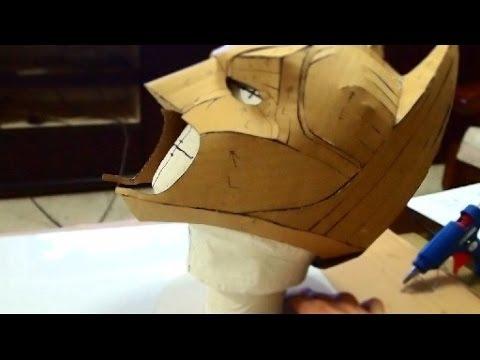 DIY Batman Cowl Part 1 - Cardboard, Cut & Hot Glue How to