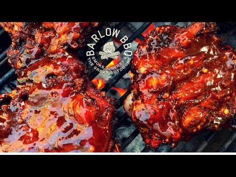 Smoked BBQ Chicken Thighs on the Weber Kettle Grill with the Slow N Sear | Barlow BBQ