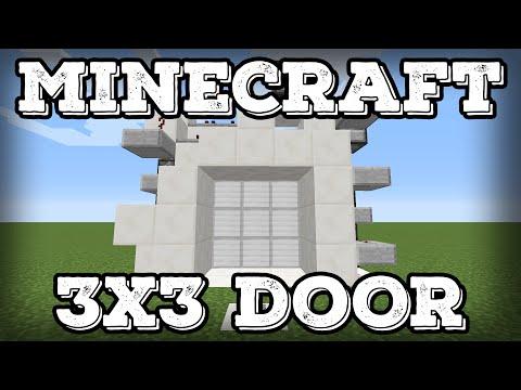 Minecraft Tutorial - 3x3 Piston Door(Minecraft 1.12+)
