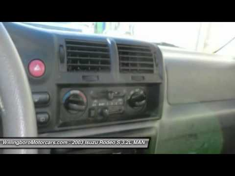 2003 Isuzu Rodeo S 3.2L MANUAL 4 Burlington NJ 08016