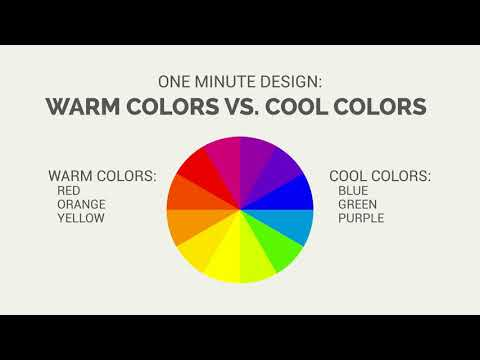 One Minute Design: Warm Colors vs. Cool Colors