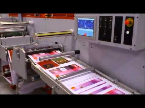 UCE500 Inline sheeter, flexo varnish, lamination and cold foil printing