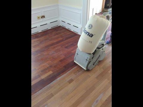 Floor Sanding - Engineered Wood Merbau