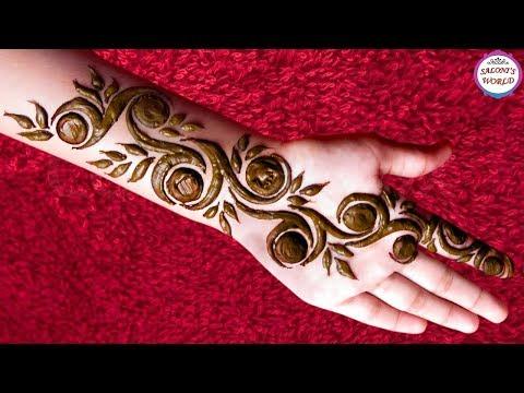 Latest 3d Arabic Henna Mehndi Designs For Hands Gol Tikki By Jyoti