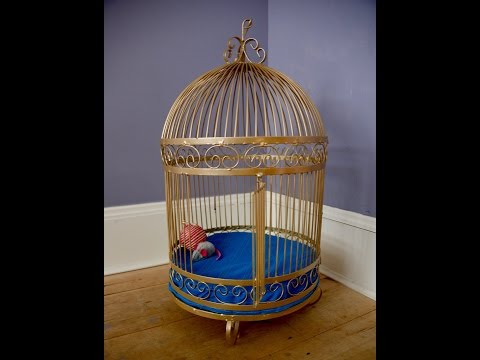 How to make a birdcage a DIY cat bed