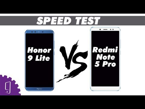 Redmi Note 5 Pro and HUAWEI Honor 9 Lite Speed Test