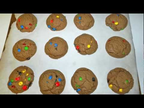 Chocolate Peanut Butter M&M Cookies Recipe