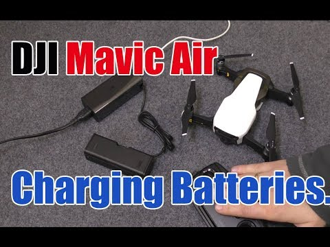 DJI Mavic Air, How to Charge the Battery and Controller Tutorial.