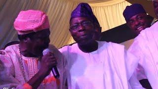 King Sunny Ade Obasnajo Osoba Baba Ijebu Drag Ebenezer Obey To Dance Floor @ Ebenezer Obey @ 75