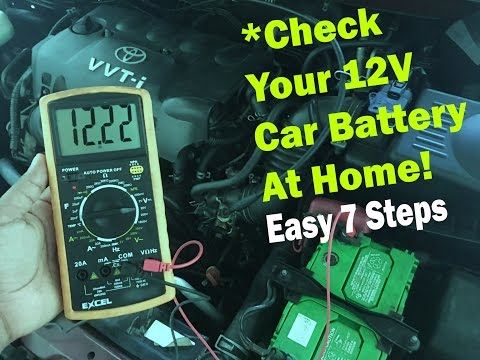 Check Your Car Battery at Home (TOYOTA or any) - With a Multimeter!