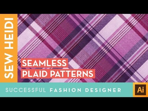 Plaid Seamless Repeating Patterns in Adobe Illustrator