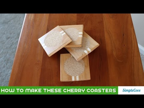 Cherry And Maple Wooden Coasters
