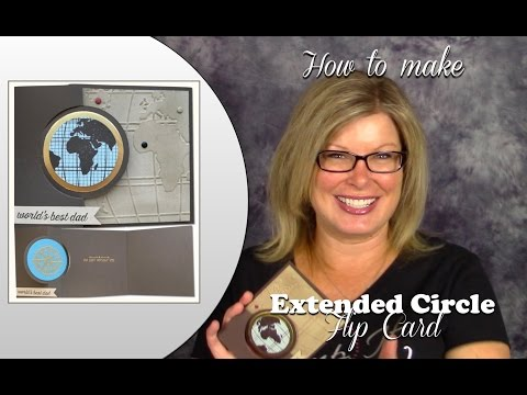 How to make and extended Circle Flip Card and Giveaway featuring Stampin up