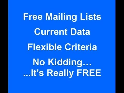 How to Find Business Prospects & Create Mailing Lists for Free