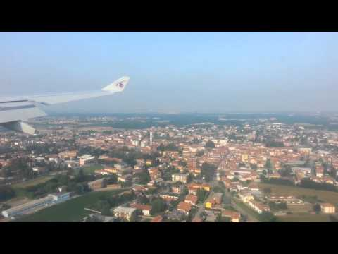 Landing at Malpensa Airport