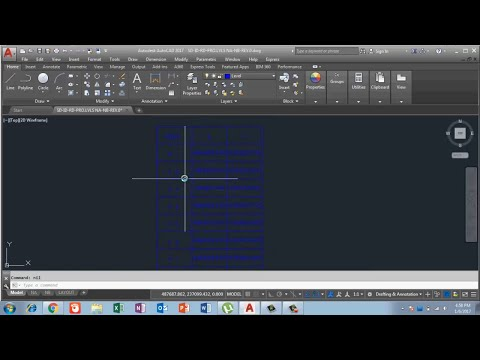 Create a table of Coordinates in Auto cad 2017 in Urdu/Hindi