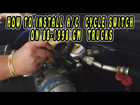 HOW TO INSTALL A/C  CYCLE SWITCH ON 88-1998 G M  TRUCKS