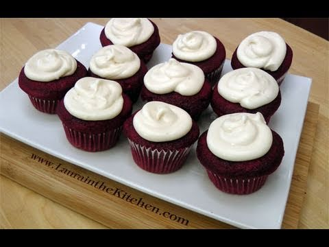 How to Make Red Velvet Cupcakes w/ Cream Cheese Frosting - Laura in the Kitchen Ep 109
