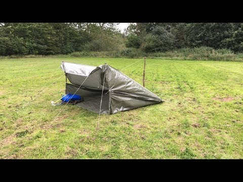 Survival# 4 How To Make A Tarp Shelter in 5 Min !