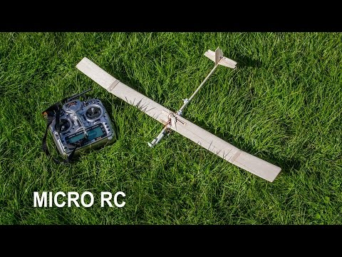 ✅ How to make a micro RC balsa wood airplane / glider