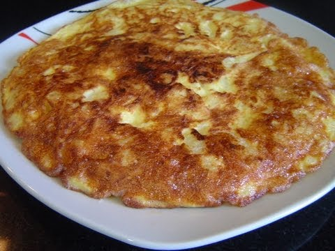 POTATOES AND ONION OMELETTE IN MICROWAVE - SPANISH OMELETE (EASY RECIPE)