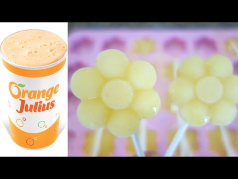 How to Make Orange Julius and Lollipop Popsicles!