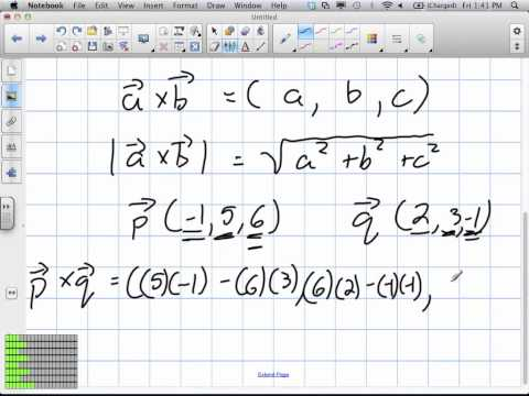 Area of a Parallelogram using Cross Product Grade 12 Calculus Lesson 7 7 7:6:12