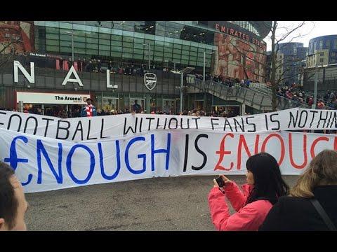 Fans Protest Against Premier League Ticket Prices.