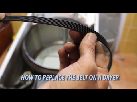 How to Replace/Change  a Dryer Belt video.  Whirlpool & Kenmore