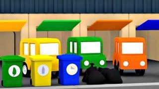 Çizgi Film - Dört araba -  Geri dönüşüm çöp kamyonu (RECYCLING TRUCKS)