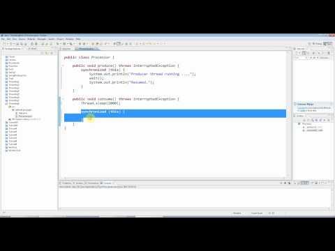 Advanced Java: Multi-threading Part 8 - Wait and Notify