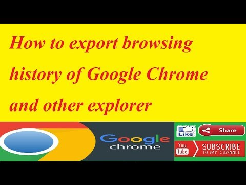 How to export browsing history of Google Chrome and other explorer