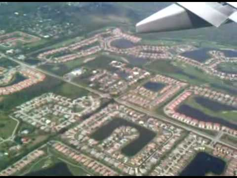 Coming in to land at Fort Myers Airport, Florida.3GP