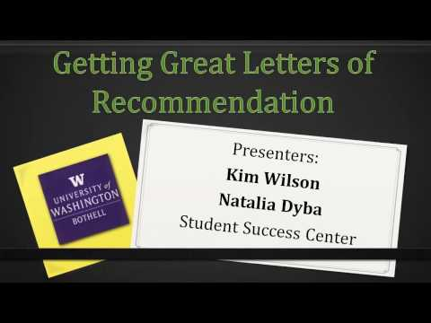 Letters of Recommendation Online Tutorial