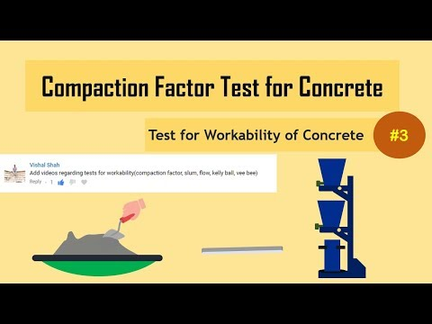 Compaction Factor Test for Concrete || Test for Workability of Concrete#3